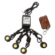 LED Strobe Light Kit Para DRL Backup Tail Light Con Control Remoto