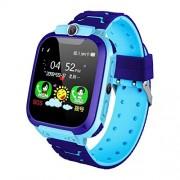 Redcolourful Reloj inteligente para niños RedColorful Q12B, reloj de teléfono para Android, iOS Life, impermeable, LBS 2G, tarjeta SIM llamada a diario Azul ZXM-191213-CE-US-38A3FDB9F3