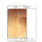 Kartik Full Covred Tempered Glass Full Screen Color Glass 2.5d For Samsung Galaxy C9 Pro - White
