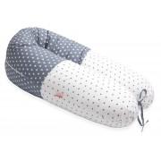 Perna Scamp 3 in 1 pentru gravide, alaptat, bebelusi, 160 cm, Texas Grey White