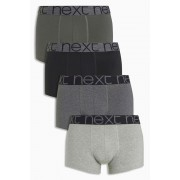 Mens Next Grey Hipsters Four Pack - Grey