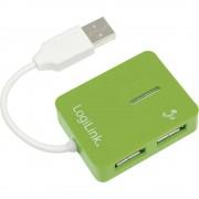 4-portni USB 2.0 hub LogiLink zeleni