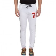 Cliths Men's Red Full Length Mid Rise Cotton Printed Track Pant