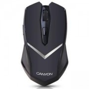 Мишка CANYON Mouse CNE-CMSW3 (Wireless, Optical 800/1280 dpi, 4 btn, USB, power saving technology), Black, CNE-CMSW3