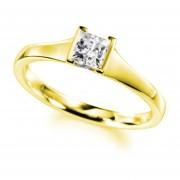 Anillo de compromiso de oro amarillo de 14k con diamante de .20ct