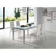 Mesa extensible elena cristal blanco 140-220x90