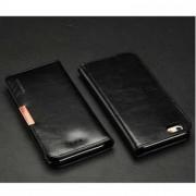 Кралска серия калъф от естествена кожа за iPhone 6 (4.7) - черен