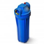 "Aquafilter ""25,4cm/10 Zoll Wasserfilter Gehäuse blau/blau, mit 1"""" IG Messing"""