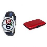 Danzen wrist watch for mens with card case -cdz-415