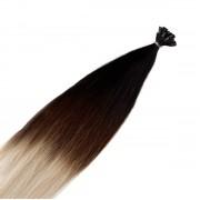 Rapunzel® Extensions Naturali Nail Hair Original Liscio O1.2/99.6 Grey Black Brown Grey Ombre 40 cm