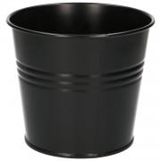 Dille&Kamille Pot de fleur, zinc, noir mat,Ø 16,7 cm