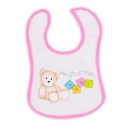Bavetica impermeabila cu scai Baby Bib Little Teedy Pink