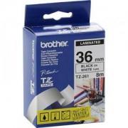 Ламинирана лента Brother TZ-261 Tape Black on White, Laminated, 36mm, 8 m - Eco - TZE261