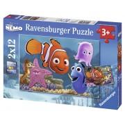 Ravensburger Alla ricerca di Nemo Puzzle 2x12 pezzi (07556)
