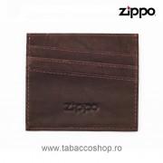 Portofel din piele Zippo Mocha pentru carti de credit
