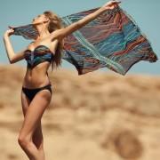 Je Suis Bademode SET Bikini & Pareo Kelis schwarz