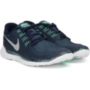 Nike FREE 5.0 PRINT Running Shoes(Silver, Green, Black)