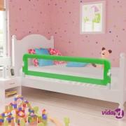 vidaXL Sigurnosna ogradica za dječji krevet 2 kom zelena 150 x 42 cm