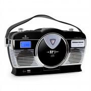 Auna RCD-70 ретро винтидж портативно радио FM CD/MP3 USB батерия - черно (MG-RCD-70-B)