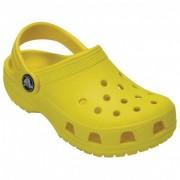 Crocs - Kid's Classic Clog - Sandales de marche taille C12, jaune/orange