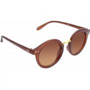 Redex Unisex Brown Round Sunglasses ( 1303 )