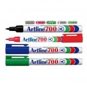 Marker permanent Artline 700, varf 0,7mm, corp metalic negru
