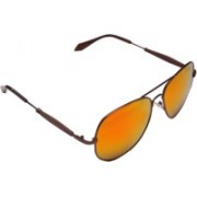 SR FASHION HUB Aviator Sunglasses(Orange, Yellow)