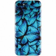 Husa silicon pentru Apple Iphone 5 / 5S / SE Blue Butterfly 101