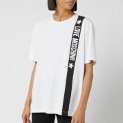 Love Moschino Women's Tape Logo T-Shirt - Optical White - IT 40/UK 8 - White
