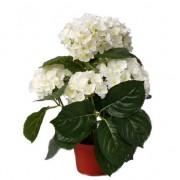 Bellatio flowers & plants Witte hortensia kunstplant 36 cm