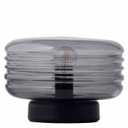 Frandsen Wheels Bordslampa glas, Smoke/Svart bas