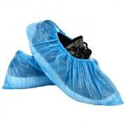 SHI Disposable Plastic Blue Boots Shoe Cover (Free Size Pack of 50)