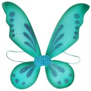 Kam Wing Cheong KWC - Pixie Fairy Wings Tinkerbell Princess Tutu Dress up Costume (Turquoise)