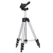 3Keys 110cm Portable Camera Tripod Stand Holder Adjustable Rotatable Retractable Lightweight Aluminum Tripods for DSLR