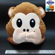 Cute Plush Toys Decoative Pillows Emogis Monkeys Speaks no Evil Monkey