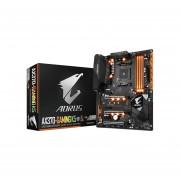 T. Madre Gigabyte GA-AX370-GAMING K5, ChipSet AMD X370, Soporta, AMD De 7ma Generación Series A / Athlon De Socket AM4, Memoria, DDR4 3200(O.C.) / 2400 / 2133 MHz, 64GB Max, Integrado, Audio HD, Red, USB 3.0 Y SATA 3.0, ATX, Ptos, 3xPCIEx16,