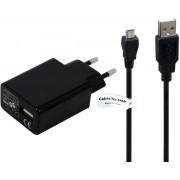TUV getest 2A. oplader met USB kabel laadsnoer 3 Mtr. Geschikt voor: CAT B10- B100- B15- B15Q- B25- B30- S30- S40- S50- S60. USB adapter stekker met oplaadkabel. Thuislader met laadkabel oplaadsnoer