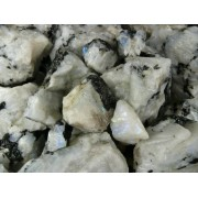 Fantasia Materials: 2 Lbs Rainbow Moonstone Mine Run Rough Raw Natural Crystals For Cabbing, Cutting, Lapidary, Tumbling, Polishing, Wire Wrapping, Wicca And Reiki Crystal Healing *Wholesale Lot*