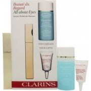 Clarins All About Eyes Gift Set 7ml Instant Mascara + 30ml Eye Make-Up Remover + 3ml Eye Revive Beauty Flash