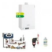 Centrala termica Viessmann Vitodens 100-W 26 kw cu pachet de instalare si filtru antimagnetita Cleanex HF1 3/4