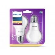 SET 2x LED Bec Philips E27/8W/230V