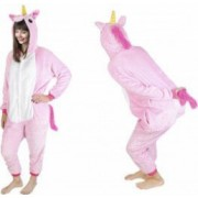 Costum Unicorn cu gluga pentru carnaval sau petreceri marime XL culoare Roz