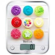Електронна кухненска везна Tefal BC5122V0,LCD дисплей, Стъклена, Капацитет до 5кг.
