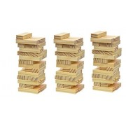 Classic Wooden Traveling Size Stacking Block Tumbling Game. Add to your Board and Card Game Collection. Best Family Fun Educational Games for Kids. Set of 3 (108 pieces Total)