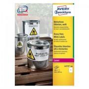 Avery L4775-100 etichetta autoadesiva Bianco Rettangolo con angoli arrotondati Permanente 100 pezzo(i)