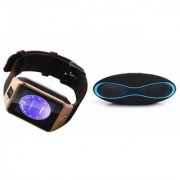 Zemini DZ09 Smartwatch and Rugby Bluetooth Speaker for Samsung Galaxy C7 Pro(DZ09 Smart Watch With 4G Sim Card Memory Card  Rugby Bluetooth Speaker)