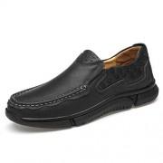 XIANGBAO-Personality -Personalidad Resbalón cómodo Ocasional de Oxford de la Moda de los Hombres de Alta Calidad en los Zapatos del Estilo del Negocio (Color : Negro, tamaño : 25.5)