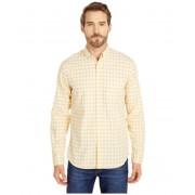 JCrew Slim Stretch Secret Wash Shirt in Organic Cotton Gingham Van Buren Gingham YellowWhite