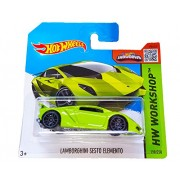 Hot Wheels Hw Workshop 198/250 Lamborghini Sesto Elemento On Short Card (Green)