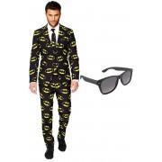 Batman heren kostuum / pak - maat 56 (XXXL) met gratis zonnebril